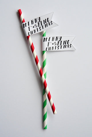 Naughty Santa - Christmas Straws | Pack of 10 | SOLD OUT