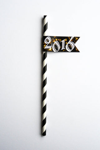 It's 2016! - New Year Straws | 10 Pack | SOLD OUT