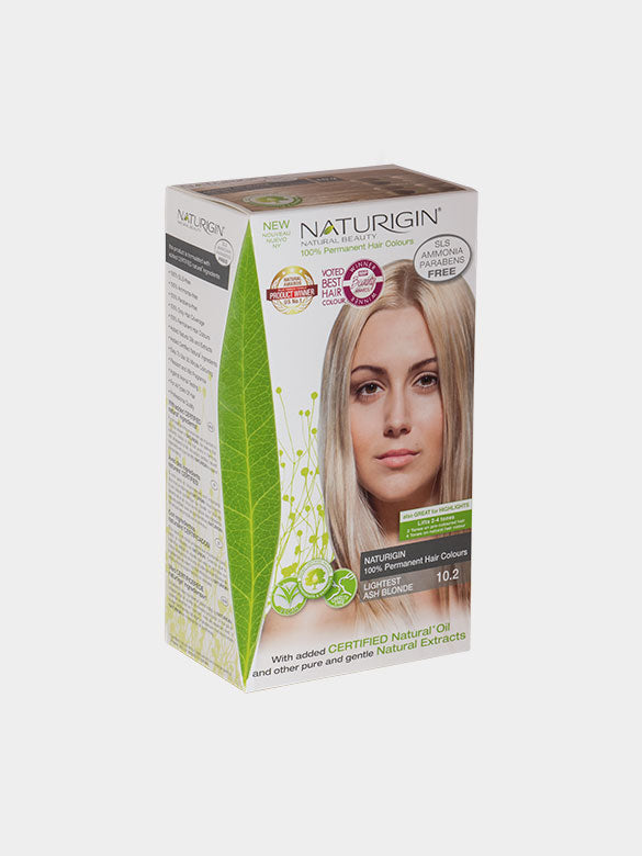 NATURIGIN Permanent Hair Colour- Lightest Ash Blonde 10.2