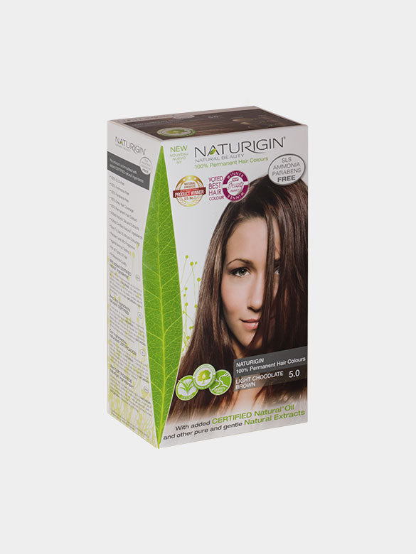 NATURIGIN Permanent Hair Colour- Light Chocolate Brown 5.0