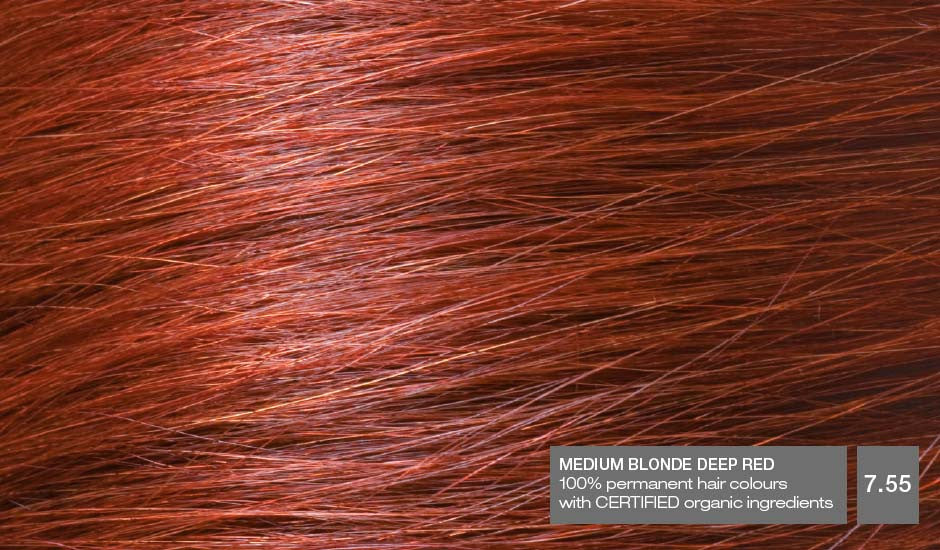 NATURIGIN Permanent Hair Colour- Medium Blonde Deep Red 7.55