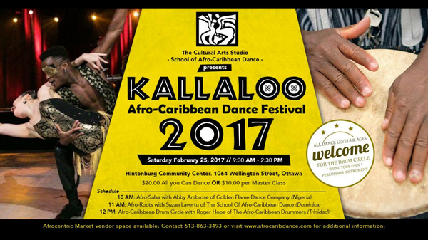 Kallaloo Afro-Caribbean Dance Festival for Black History Month in Ottawa
