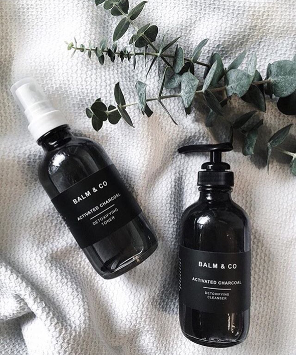 Balm & Co Night Collection Charcoal Toner on Malachite + Elephant