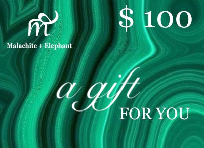 $100 GIFT CARD Malachite + Elephant