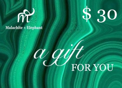 Malachite + Elephant Gift Card $30