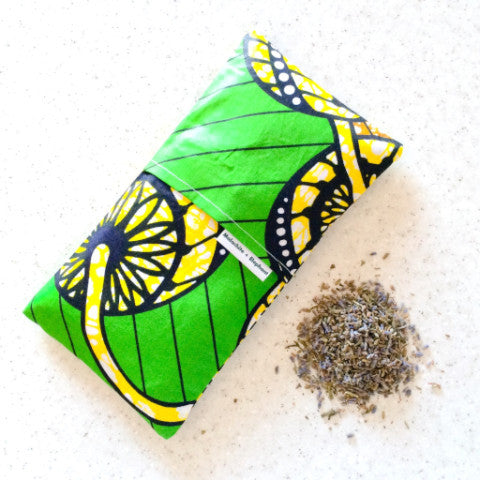 Malachite + Elephant Meditation Savasana eye pillow
