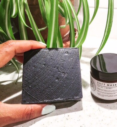 African Black soap with shea butter and activated charcoal, TGIN, Canada