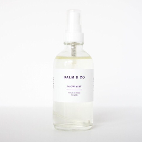 Balm & co Glow Mist nourishing toner at Malachite + Elephant Canada