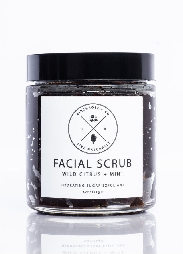 BIRCHROSE + CO Facial Scrub with Wild Citrus and Mint