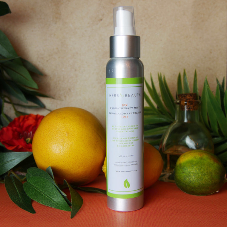 orange and mandarin essential oil aromatherapy mist