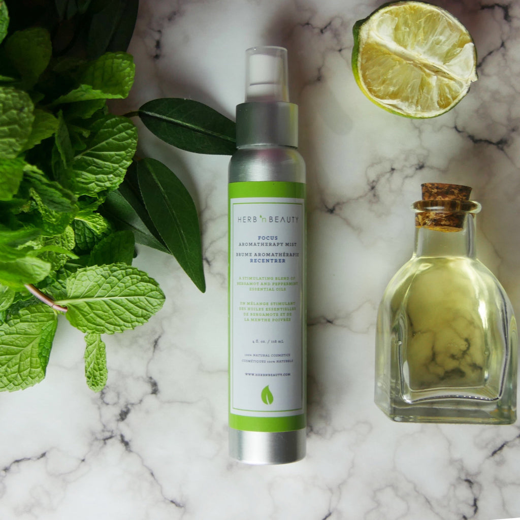 bergamot and peppermint essential oil mist