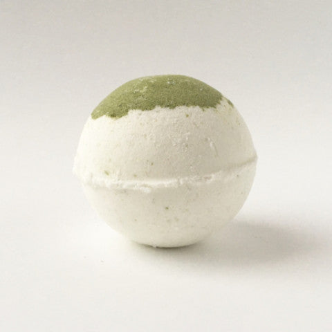 Mojito Bath Bomb with uplifting lime and peppermint essential oils