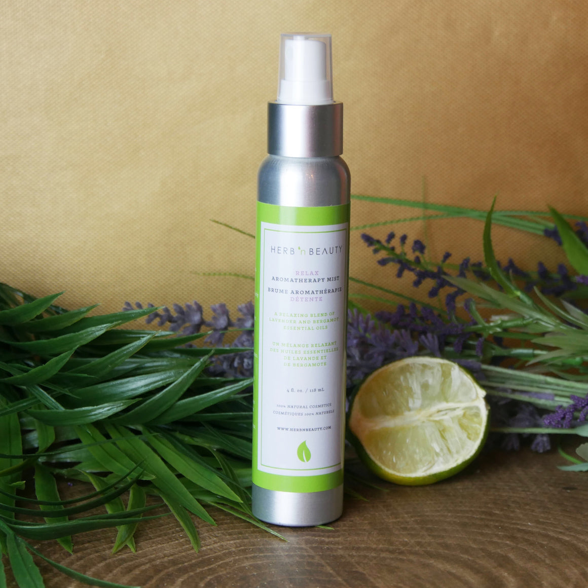 relax essential oil mist with bergamot and lavender