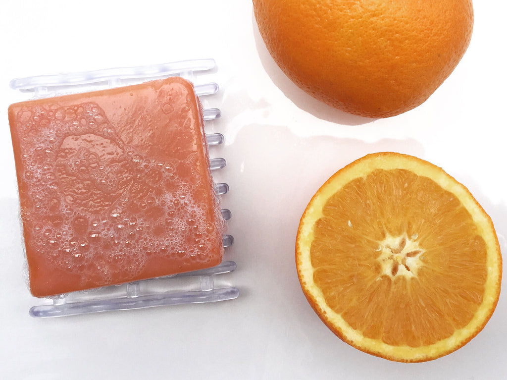 sweet orange patchouli handmade soap with olive oil by TGIN