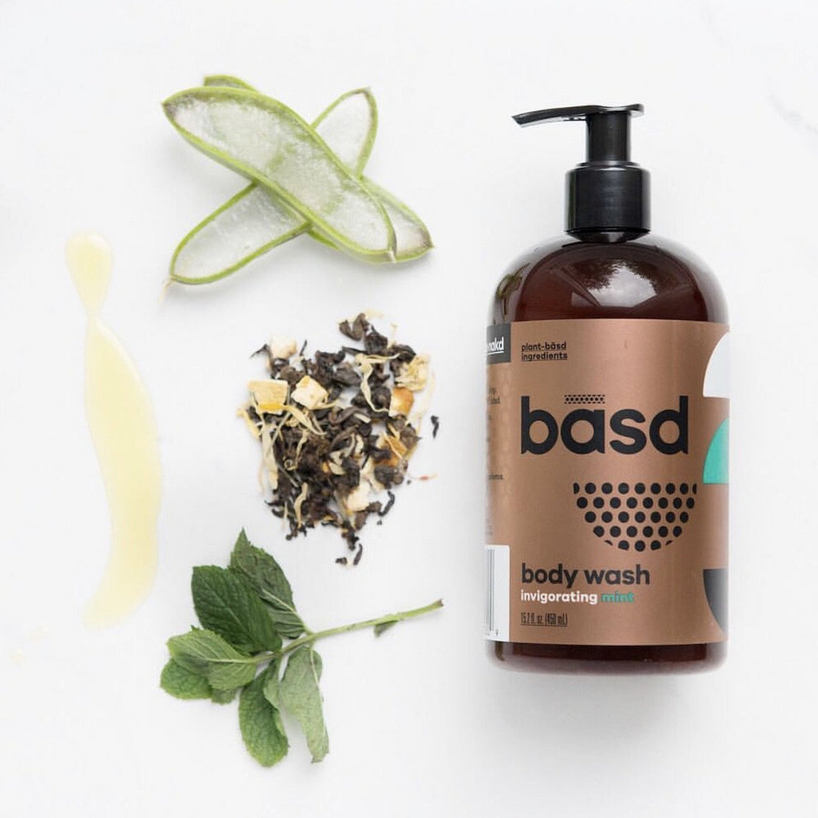 basd bodycare mint body wash