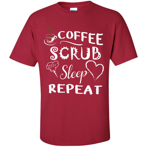 Coffee Scrub Sleep Repeat T-Shirt