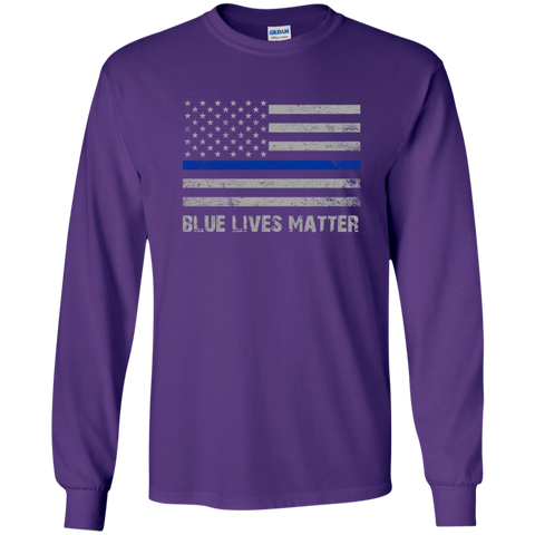Blue Lives Matter LS Ultra Cotton Tshirt