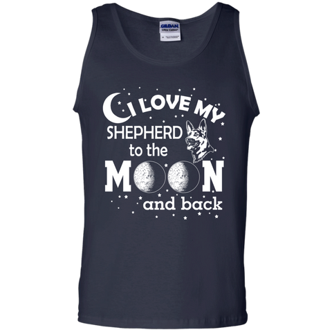 I Love my Shepherd to the Moon and back   Cotton Tank Top