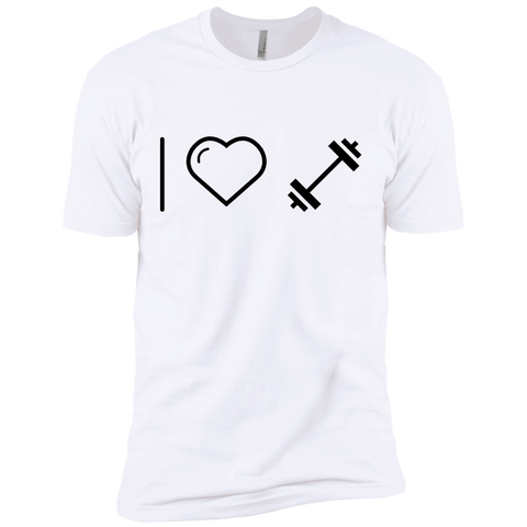 I heart Dumbells  Premium Short Sleeve Tee