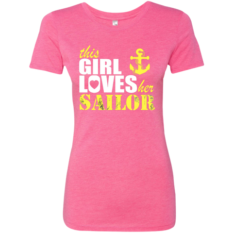 This Girl Loves her Sailor Ladies Triblend T-Shirt