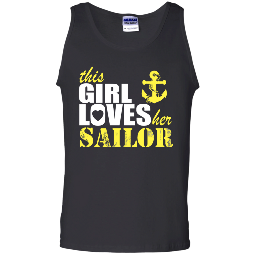 This Girl Loves her Sailor Cotton Tank Top