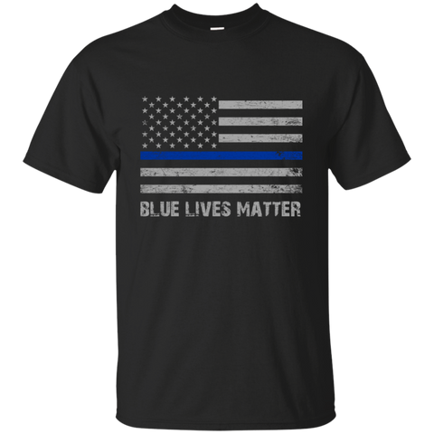Blue Lives Matter Cotton T-Shirt
