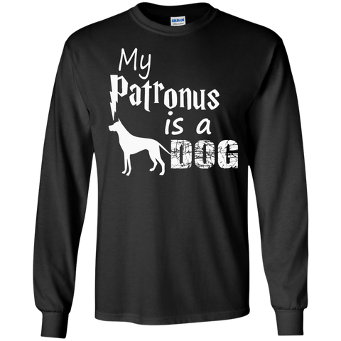 My Patronus is a Dog  LS Ultra Cotton Tshirt