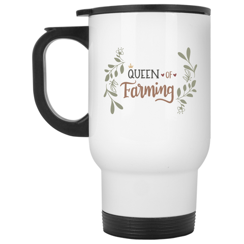 Queen of Farming  White Travel Mug