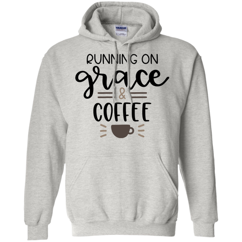 Running on grace  & coffee  Hoodie