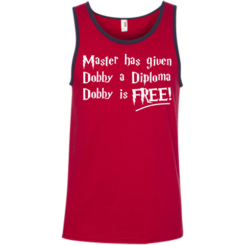 Master has given dobby a diploma dobby is free  Ringspun Cotton Tank Top