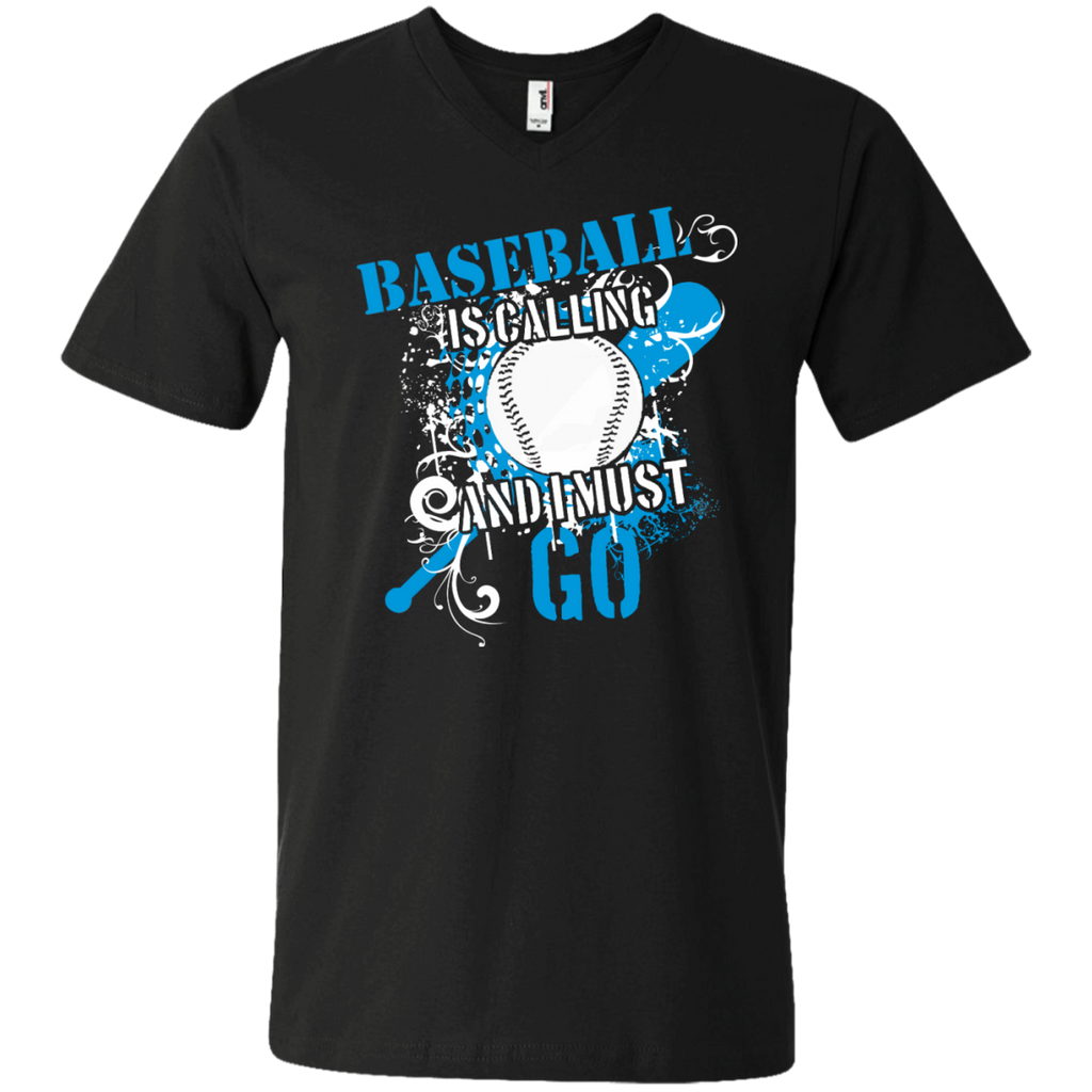 Baseball is calling and I must go Men's Printed V-Neck T