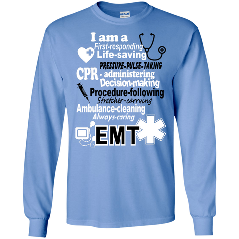 EMT Poems sayings  LS Tshirt
