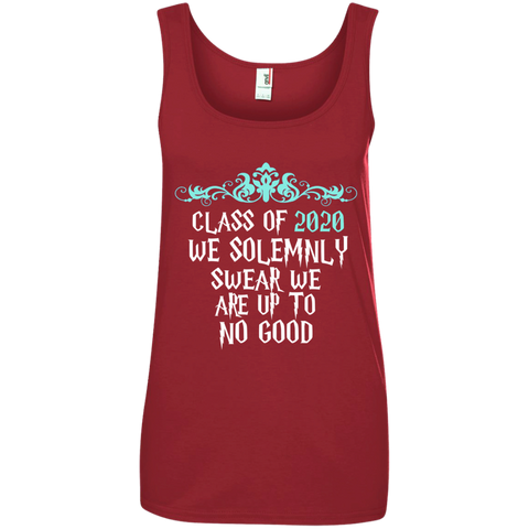 Class of 2020 We Solemnly Swear We Are Up to No Good ver2 Ladies' 100% Ringspun Cotton Tank Top