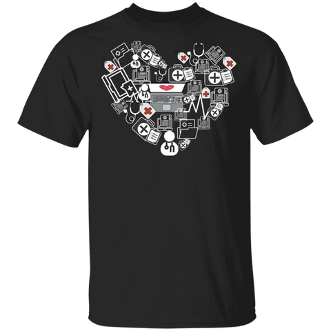 Medical Coder Heart T-Shirt