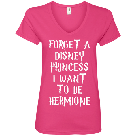 Forget a disney princess i want to be Hermione  Ladies  V-Neck Tee