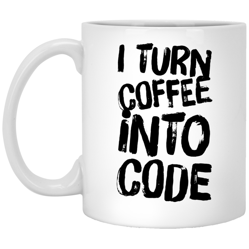 I Turn Coffee into code Mug