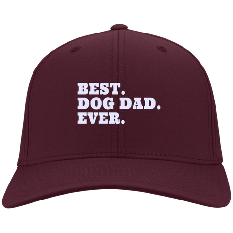 Best. Dog Dad. Ever.  Twill Cap