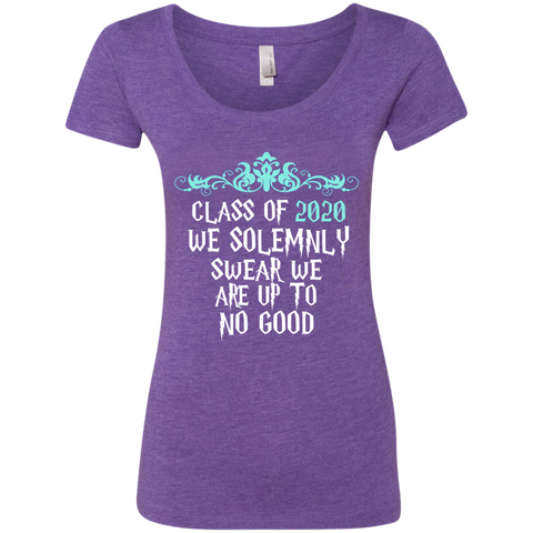 Class of 2020 We Solemnly Swear We Are Up to No Good ver2 Next Level Ladies Triblend Scoop
