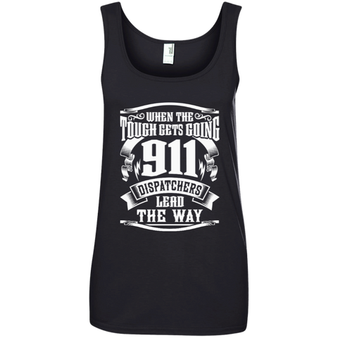 911 Dispatchers Lead the Way Ladies' 100% Ringspun Cotton Tank Top