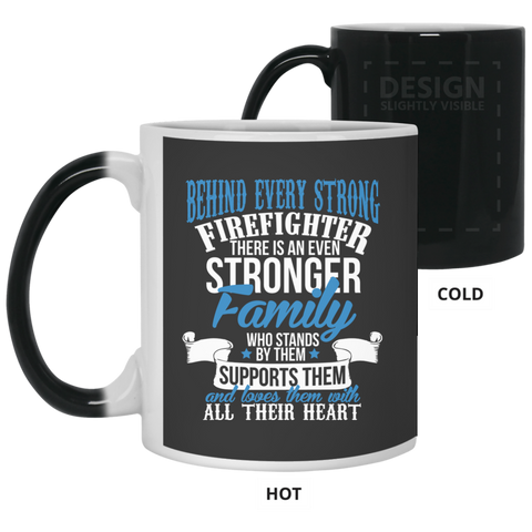 Firefighter Family Strong  11 oz. Color Changing Mug