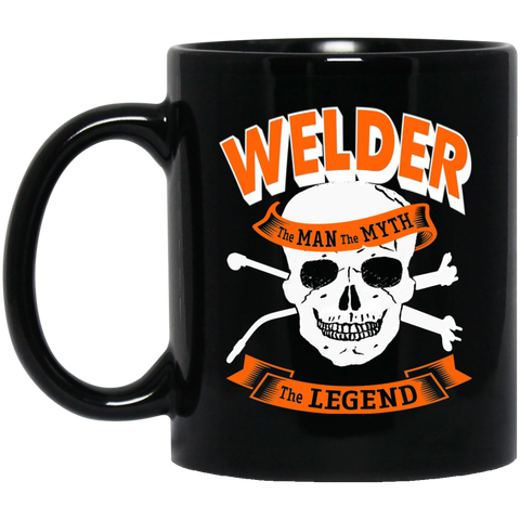 Welder  The Man The Myth The Legend  11 oz. Black Mug