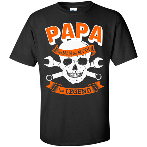 Papa The Man The Myth The Legend Skull  T-Shirt