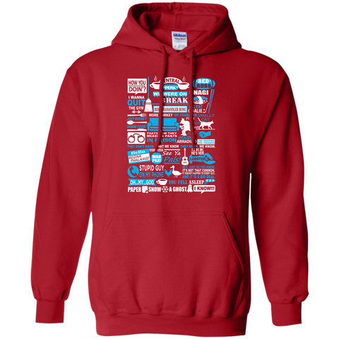 f.r.i.e.n.d.s forever quotes Hoodie