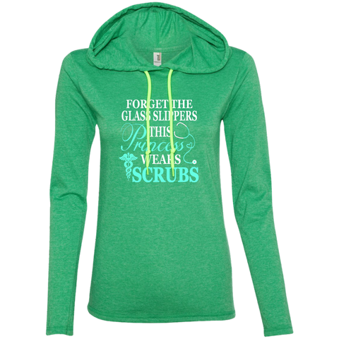 Forget The Glass Slippers This Princess Wears Scrubs Ladies LS T-Shirt Hoodie