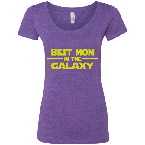Best Mom in the Galaxy Next Level Ladies Triblend Scoop