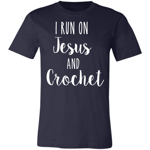 I run jesus and crochet T-Shirt