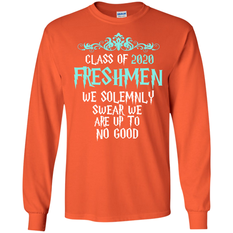 Class of 2020 Freshmen We Solemnly Swear We Are Up to No Good LS Ultra Cotton Tshirt