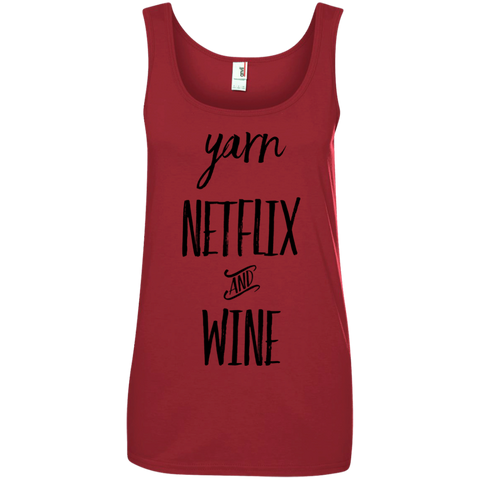 Yarn Netflix and wine Tank Top