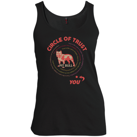 Circle of trust Pit Bull scoop  Neck Tank Top
