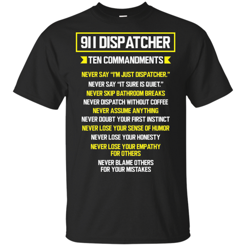 911 Dispatcher  Ten Commandments  T-Shirt